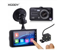 "A6t 4"" Dvr Dash Cam Rear View Camera Touch Screen Night Vision Video Recorder Dashcam Motion Detection Car Dvr Mirror"