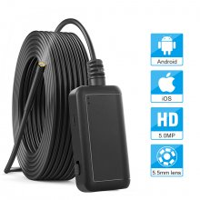 SN18 5.5mm Inspection Camera 5.0MP Wireless Borescope WiFi Snake Camera with 6 LED for iPhone, Samsung, Android Tablet