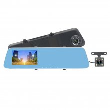 907T 4.3'' Car DVR version upgrade 1080P touch screen car camera rearview mirror Dual lens Video Recorder dash cam