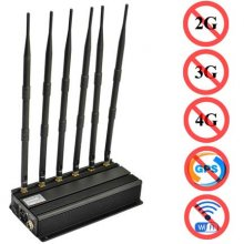 H6 Bands All Cell Phone Signal Jammer 2G 3G 4G WiFi GPS