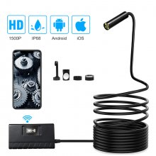 SN12 Wifi Endoscope Camera IP68 Waterproof 1080P Inspection Camera 6 LEDs Borescope 14.2mm Daimeter Camera For Android IOS Endoscope for iPhone