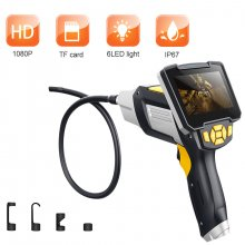 SN11 Digital Industrial Endoscope 4.3 inch LCD Borescope Videoscope with CMOS Sensor Semi-Rigid Inspection 8mm Daimeter Camera Handheld Endoscope