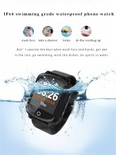 D200 IP68 Waterproof old man Smart Watch GPS+LBS+Wifi Location Track Anti-lost Smartwatch Heart Rate Monitor fall-down alarm